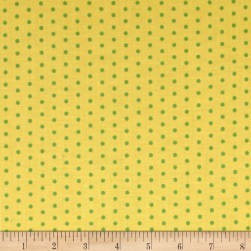 Contempo Dot Crazy Small Dot Yellow Fabric