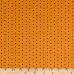 Contempo Dot Crazy Small Dot Orange Fabric