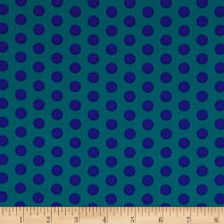 Contempo Dot Crazy Medium Dot Teal Fabric