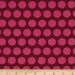 Contempo Dot Crazy Large Dot Burgundy Fabric