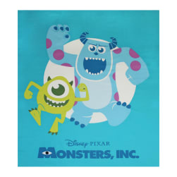 Disney Pixar Monsters Inc. 35'' Panel Blue Fabric