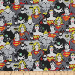 DC COMICS ll Superhero Crowd Iron Fabric