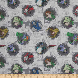 DC COMICS ll Villains Grey Fabric