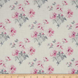 Laura Ashley Grace Peonies White Fabric
