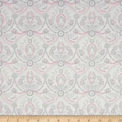 Laura Ashley Grace Damask Almieda White Fabric