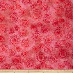 Bali Sweet Love Mandalas Carnation Fabric