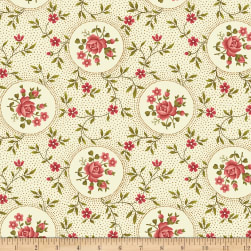 Benartex Homestead: Colonial Rosette Cream Fabric