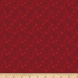Benartex Homestead: Colonial Lace Red Fabric