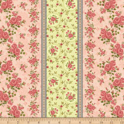 Benartex Homestead: Colonial Border Rose Fabric