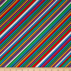 Benartex Matthew's Mini Monsters Wires Rainbow Fabric