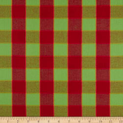 Kaffe Fassett Artisan Checkerboard Plaid Ikat Red Fabric