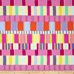 Kaffe Fassett Artisan Layered Stripe Pink Fabric