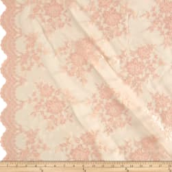 Chantilly Lace Double Border Peach