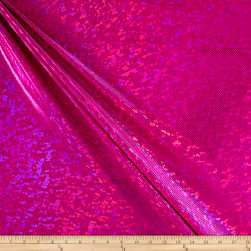 Shattered Hologram Lamé Stretch Knit Hot Pink
