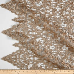 Matte Sequin Lace Champagne Fabric