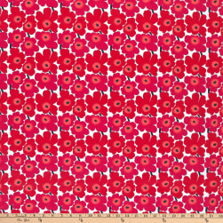Marimekko Mini Unikko Cotton Red Fabric