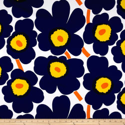 Marimekko Pieni Unikko Cotton Purple Fabric
