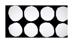 Marimekko Kivet Cotton Black/White Fabric
