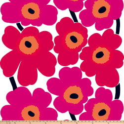 Marimekko Unikko Cotton Red Fabric