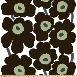 Marimekko Unikko Cotton Black Fabric