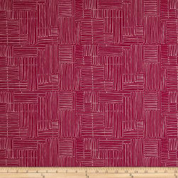 Amy Reber Jitterbug Terrace Redbud Fabric