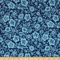 Designer Essentials Boston Commons Mayflower Blue Fabric