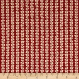 Designer Essentials Boston Commons Faneuil Red Fabric