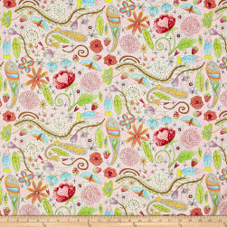 Laura Heine The Dress Garden Pink Fabric