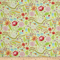 Laura Heine The Dress Garden Green Fabric
