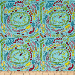 Laura Heine The Dress Fern Aqua Fabric