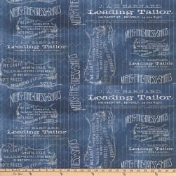Tim Holtz Dapper Tailored Blue Fabric