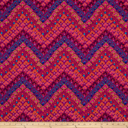 Kaffe Fassett Fall 2017 Trefoil Red Fabric