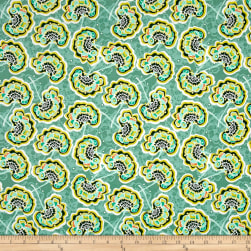 Tina Givens Piecemeal Raisin Feast Aqua Fabric
