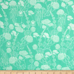 Tina Givens Piecemeal Morning Walk Aqua Fabric