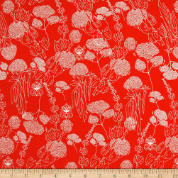 Tina Givens Piecemeal Morning Walk Orange Fabric