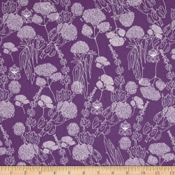 Tina Givens Piecemeal Morning Walk Purple Fabric