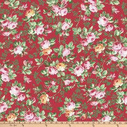Verna Mosquera Autumn Grace Fall Garden Pomegranite Fabric