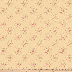 Verna Mosquera Autumn Grace Sprinkled Rosebuds Butter Fabric