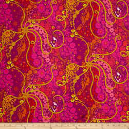 Alison Glass Diving Board Pearl Cerise Fabric