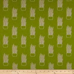 Tiger Plant Snake Plant Chartreuse Linen Fabric