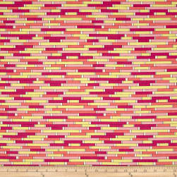 Uptown Backsplash Pink Yellow Fabric