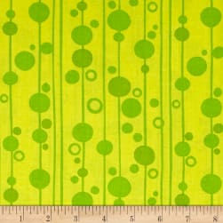 Uptown Bubbles Green Fabric
