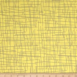 Uptown Pick-Up Sticks Yellow Fabric