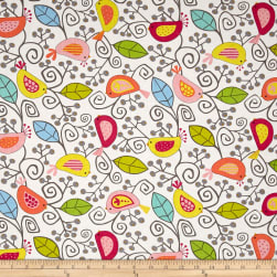 Uptown Uptown Birds White Fabric