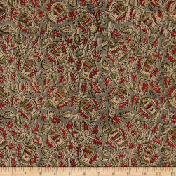 Andover Vegetable Dyes Cement Red Fabric