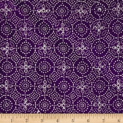Java Garden Batiks Flower Burst Purple Fabric