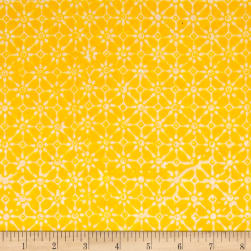 Java Garden Batiks Petit Flower Yellow Fabric