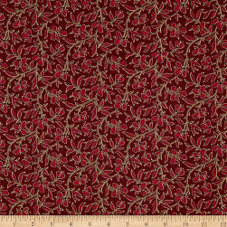 Franklin Petals Merlot Fabric