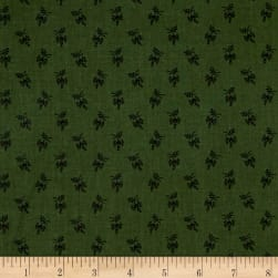 Andover Over The Rainbow Sprigs Green Fabric
