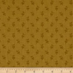 Andover Over The Rainbow Sprigs Brown Fabric